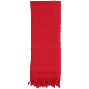 Red Solid Shemagh Heavyweight Arab Tactical Desert Keffiyeh Scarf