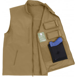 Coyote Brown Military Concealed Soft Shell Tactical Carry Vest