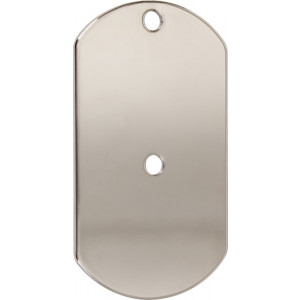 Stainless Steel Signal Mirror Dog Tag