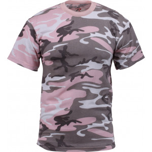 Subdued Pink Camouflage Military Short Sleeve T-Shirt