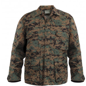 Woodland Digital Camouflage MARPAT BDU Shirt Fatigue Jacket Coat
