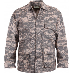 ACU Digital Camouflage Military BDU Fatigue Jacket Tactical Coat Shirt