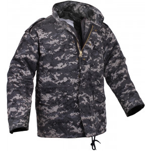 Subdued Urban Digital Camouflage Military M-65 Field Jacket