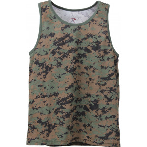 Woodland Digital Camouflage Military Tank Top