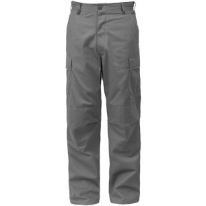 Grey Military BDU Cargo Polyester/Cotton Fatigue Pants