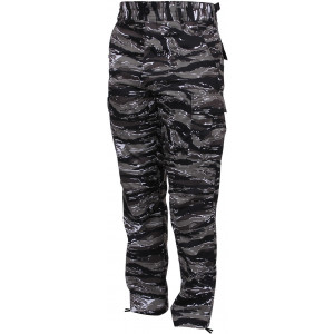 Urban Tiger Stripe Camouflage Military Cargo BDU Fatigue Pants