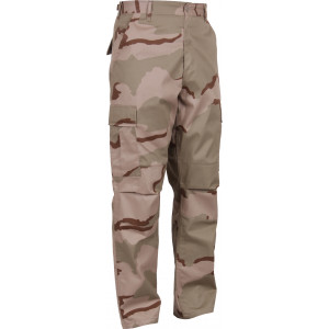 Tri-Color Desert Camouflage Military Cargo BDU Fatigue Pants
