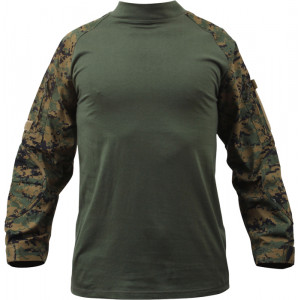 Woodland Digital Camouflage Military Heat Resistant Tactical Lightweight Combat Shirt