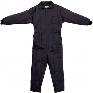 Black Cold Weather Insulated Coverall Jumpsuit