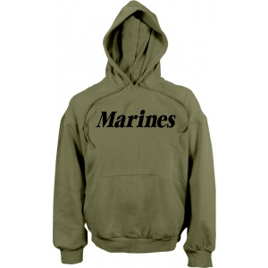 Olive Drab Marines Physical Training Hooded Sweatshirt