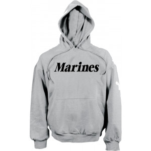 Grey Marines Physical Training Hooded Sweatshirt