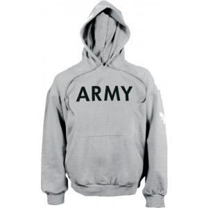 Grey ARMY Physical Training Hooded Sweatshirt