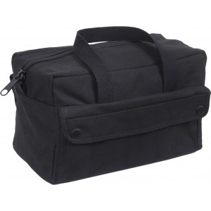 Black Military Canvas Mechanics Tool Bag