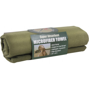 "Olive Drab Microfiber Fast Drying Hand Towel 15"" x 24"""