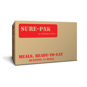 Sure-Pak MREs (Meals Ready-to-Eat) Genuine GI U.S. Military Surplus with Heaters - 12 Meals