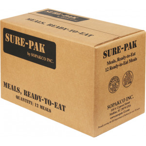 Sure-Pak MREs (Meals Ready-to-Eat) Genuine GI U.S. Military Surplus - 12 Meals