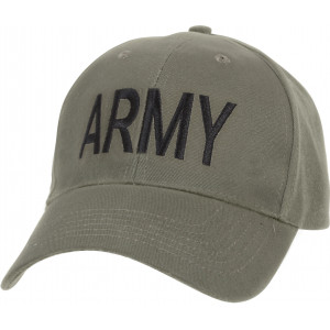 Olive Drab Army Embroidered Supreme Low Profile Adjustable Cap