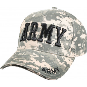 ACU Digital Camouflage US Army Deluxe Low Profile Adjustable Cap