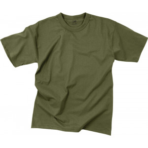 Olive Drab Moisture Wicking Plain Solid Military T-Shirt