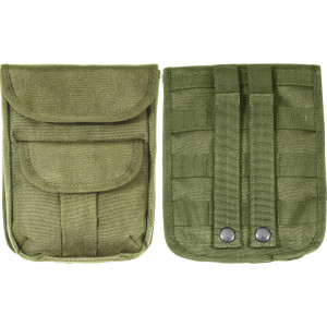 Olive Drab Military MOLLE 2-Pocket Military Ammo Pouch