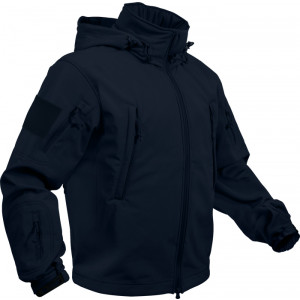 Midnight Navy Blue Military Special Operations Tactical Soft Shell Jacket