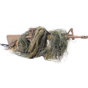 Woodland Camouflage Lightweight Sniper Rifle Ghillie Wrap