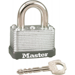 Master Lock 22D Wide Warded Laminated Padlock Steel with Keys