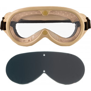 Tan Military Sun-Wind-Dust Ballistic Goggles
