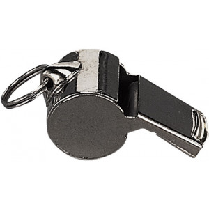 Silver Police Whistle with Lanyard