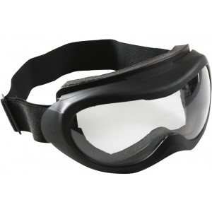 Black With Clear Lenses Tactical Goggles