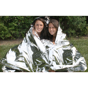 """Emergency Polarshield Survival Light Weight Reflective Mylar 2 Person Deluxe Blanket (96"""" x 60"""")"""