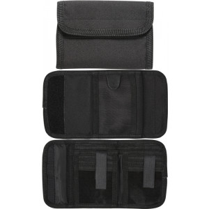Black Military Deluxe Nylon Commando Tri-Fold Wallet