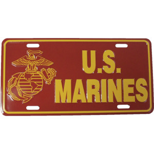 US Marines USMC Globe & Anchor Logo License Plate