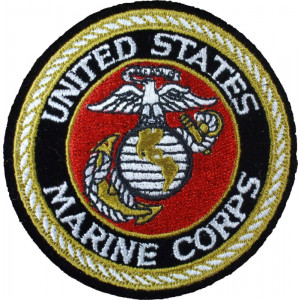 USMC Round Deluxe Patch (4 Inches)