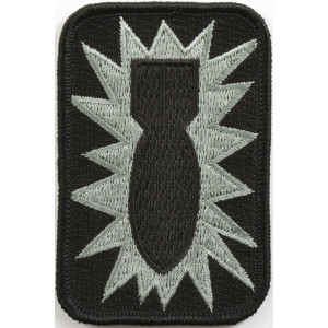 Black Military 52nd Ordnance Group Bomb Patch