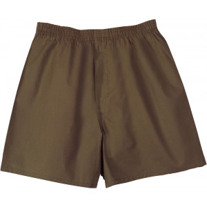 Brown Military Boxer Brief Shorts