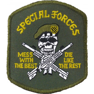 Special Forces Green Beret Mess With Best Die Like the Rest Military Patch