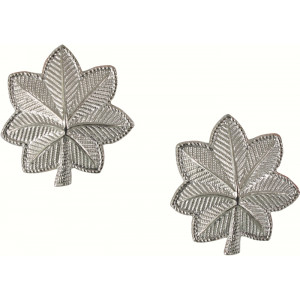 Silver Lieutenant Colonel Officer Insignia Set