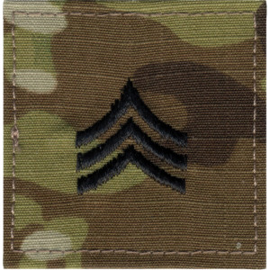 Multi Cam Sergeant Rank Insignia Patch