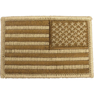 Embroidered REVERSE US Flag Patch
