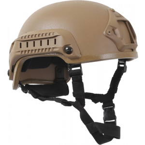 Coyote Brown Tactical ABS Base Jump Helmet