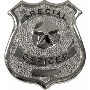 Special Officer Classic Star Badge - Silver Chrome