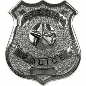 Special Police Classic Star Badge - Silver Chrome