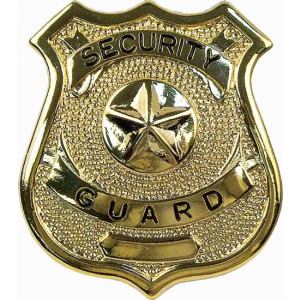 Security Guard Classic Star Badge - Gold