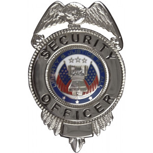 Security Officer Liberty & Justice Badge - Silver