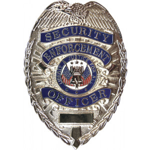 Security Enforcement Officer Deluxe Badge - Silver Chrome