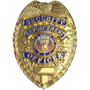 Deluxe Security Enforcement Officer Badge - Gold