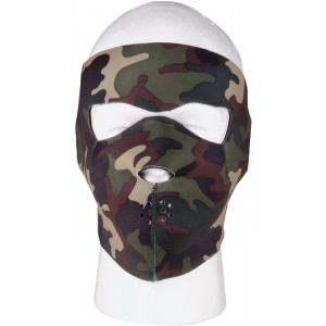 Woodland Camouflage / Black Reversible Stretch Full Face Mask