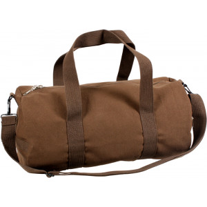 Brown Vintage Canvas Sports Gym Duffle Shoulder Carry Bag
