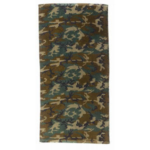 "Woodland Camouflage Beach Towel Large Full Body 30"" x 60"""